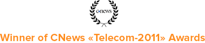 Winner of CNews Telecom-2011 Awards